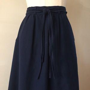 Vintage Midi Skirt with Pockets