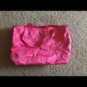 Hot Pink Coach Small Weekend Bag