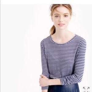 J. Crew drapey long sleeve striped top