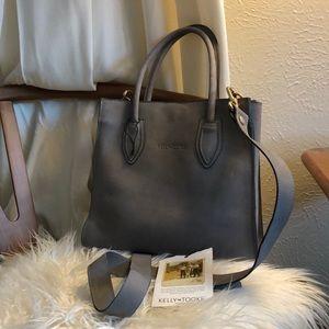 Handbags - Kelly & Took Grey Suede Purse
