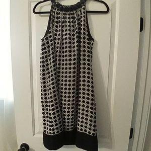 Shoshanna sleeveless, tie back dress