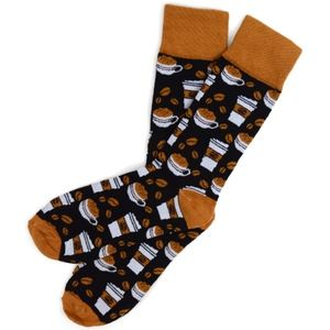 Other - NWT Novelty Socks Coffee Lovers in Brown or Black