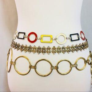 Vintage Metal Chain Circle Belt Bundle (3)