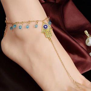 Jewelry - Evil Eye Tassel Toe Chain Anklets Bracelet
