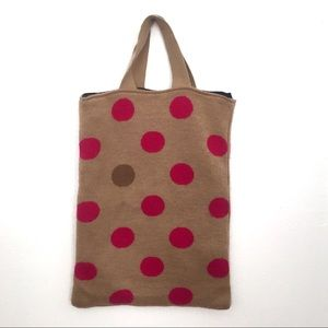 Handel from Basel Polka Dot Knit Tote