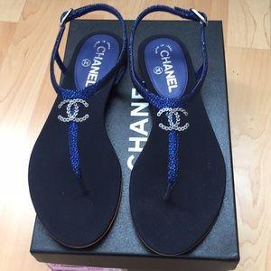 CHANEL mermaid thong sandals