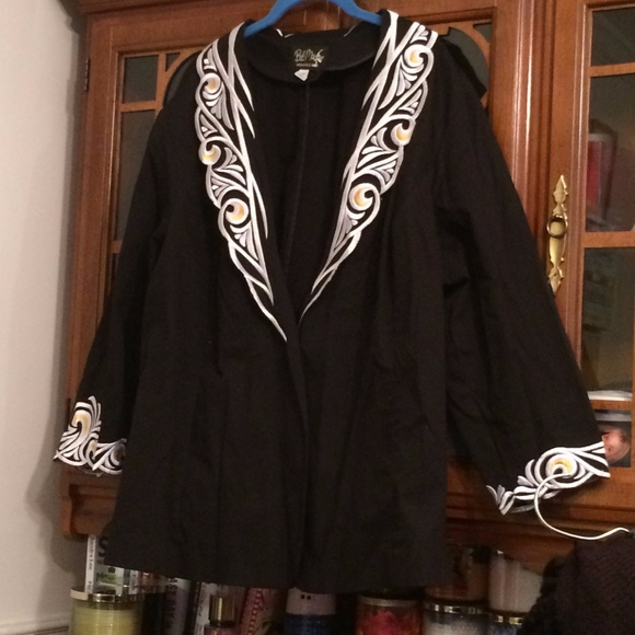 Bob Mackie Jackets Coats Plus Size Jacket 3x Wearable Art Poshmark
