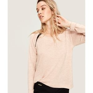 NWT Lolё Metha pink sand heather long sleeve top