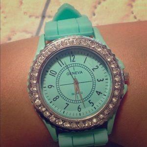 Bright sky blue watch