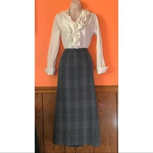 Pure New Wool Plaid Skirt
