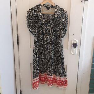 Anna Sui Patterned Silk Dress