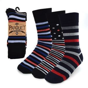 Other - NWT 3 pack Crew Socks Multi-Colored Stripes
