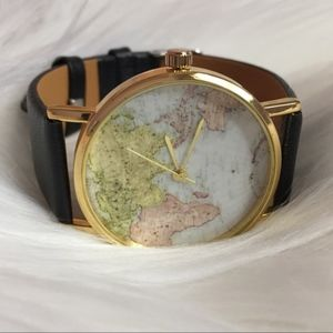 Urban Outfitters World Map Watch