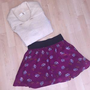 Anthropologie Chiffon Skirt