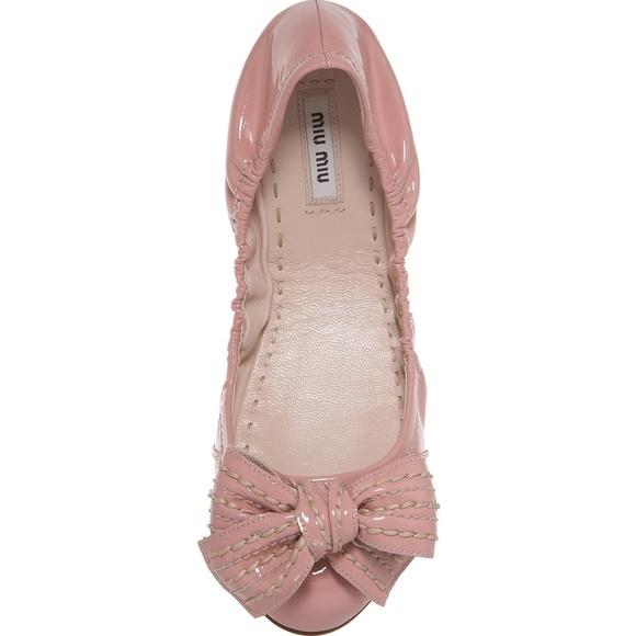 ddf41cb9cd0 Miu Miu Pink Ballet Flats. M 5a2f7fb75a49d0fb9d028617