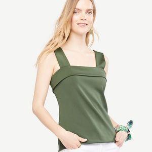 Ann Taylor Tops - NWT Ann Taylor square neck green tank top