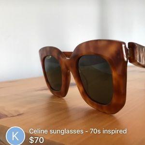 Celine Accessories - Celine tortoise shell wayfarer sunglasses