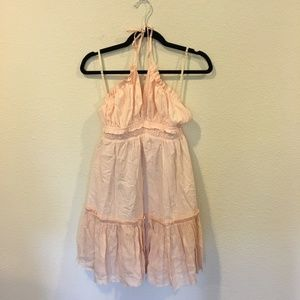 Lunik pink halter dress