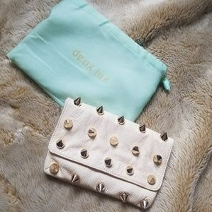 Deux Lux Spike Studded Clutch