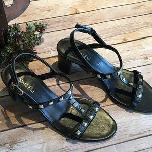 VanEli Sandals, Black, Size 8