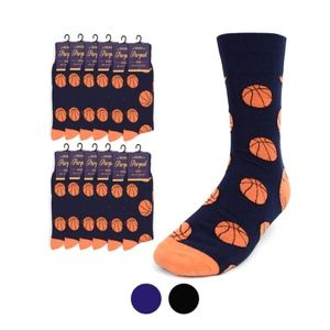 Other - NWT Novelty Crew Socks For Basketball Lovers