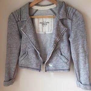 Gray Abercrombie sweater blazer