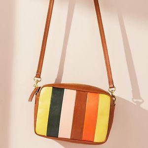 Clare V. midi Georgia striped crossbody bag