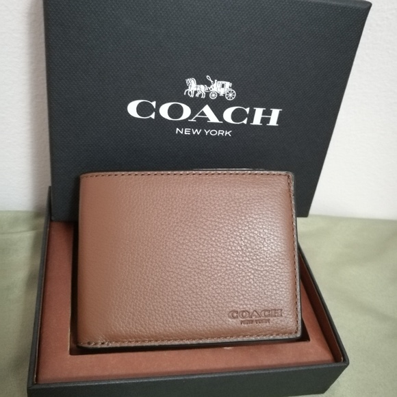 1ee24bd1bd78 NWT in box Coach men leather slim billfold wallet