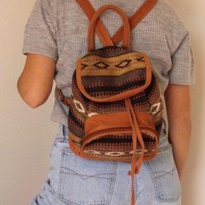 Vintage Woven Mini Backpack
