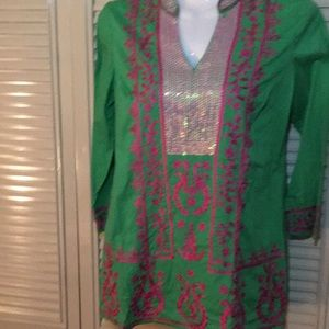 Charter club sequin tunic - small