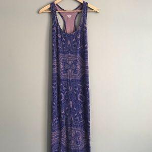 Purple Tribal Print Maxi Dress