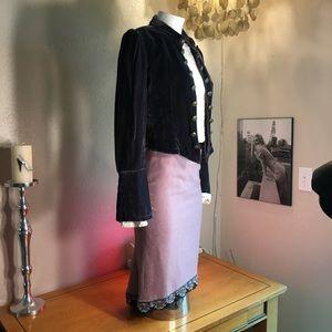 ELEVENESS Lavender pencil skirt