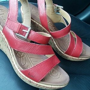 BOC Red Wedges size 8.5