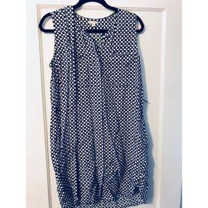 Gap shift dress blue/white