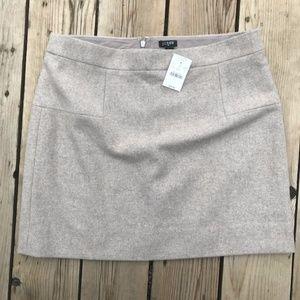 NWT J Crew Wool Winter Mini Skirt--Tan/Brown--12