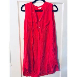 Gap coral shift dress
