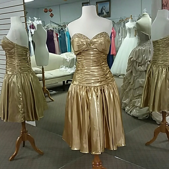 Precious Formals Dresses Gold Color Poshmark