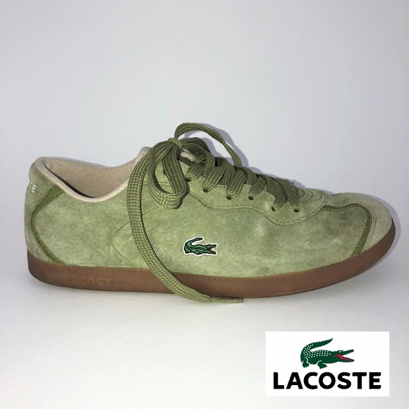 147b28d9e312 Lacoste Shoes - Lacoste Green Suede Sneakers 6.5