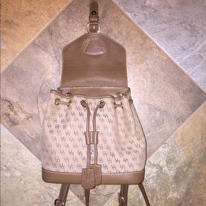 Dooney and Bourke signature backpack -Brown