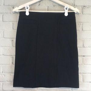 WORTHINGTON Black Stretch Pencil Skirt