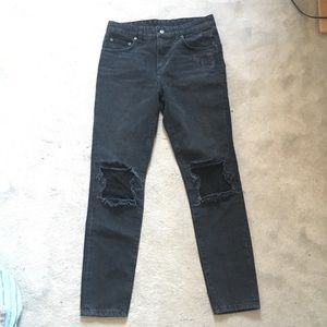 Carmar Black Acid Wash Jeans