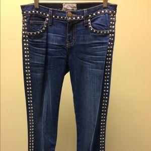 Current/Elliott Crop Skinny Jean in Brass Stud 26