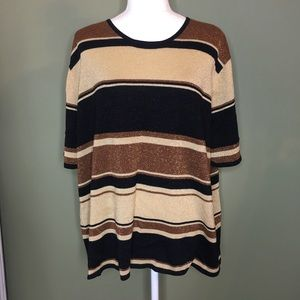 Gold Specked Striped Sweater