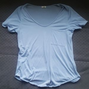 Garage sz medium blue v neck t-shirt