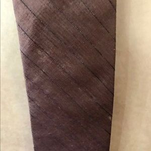 Perry's Accessories - New Perry's Tie Thai Silk Brown Metallic Thread