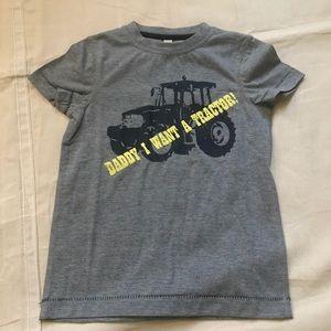 NWOT -Little Boys gray Tractor Tee Horseware 5-6