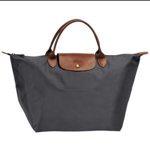 Longchamp black canvas purse