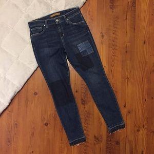 NWT Joe's Jeans Daisy Skinny Ankle Patch Denim 28
