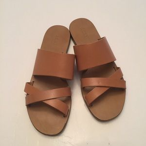 J. Crew Malta brown flat sandals made in Italy