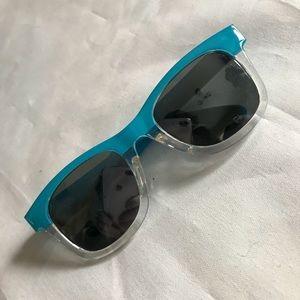 Other - Blue mirrored baby wayfarer shades sunglasses UV